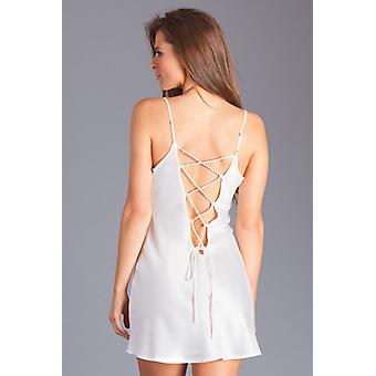 Sofia yö mekko valkoinen