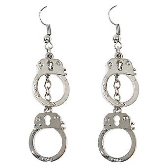 Fülbevaló handcuffs rendőrségi COP tartozék karnevál