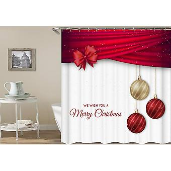 Gift Wrap And Christmas Bubbles Shower Curtain