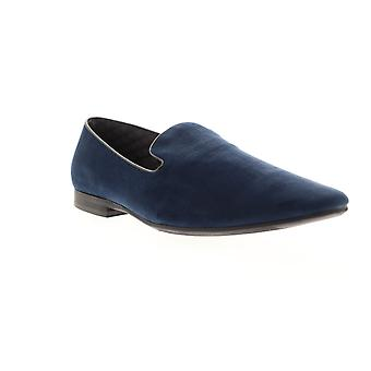 Giorgio Brutini Cress  Mens Blue Canvas Dress Slip On Loafers Shoes