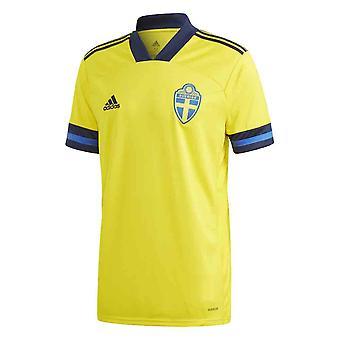 2020-2021 السويد الرئيسية أديداس لكرة القدم قميص