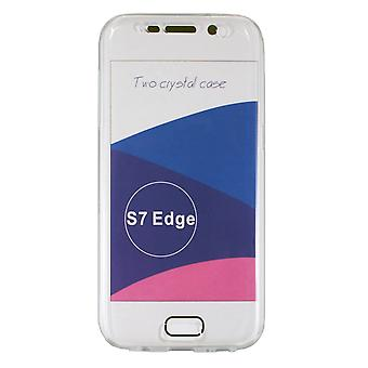 Hull voor Samsung Galaxy S7 Edge Protection 360 - Flexibel transparant