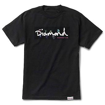 Diamond Supply Co Colour Box Logo Tee Noir