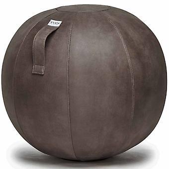 Vluv Veel faux leder stoel bal diameter 70-75 cm elephant / donker grijs