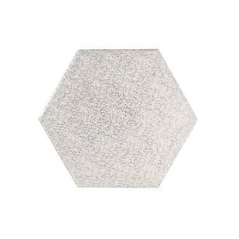 """Culpitt 15"""" (381mm) Cake Board Hexagonal Silver Fern - Single"""