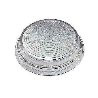 Culpitt ronde plastic cake stand-zilver 355mm