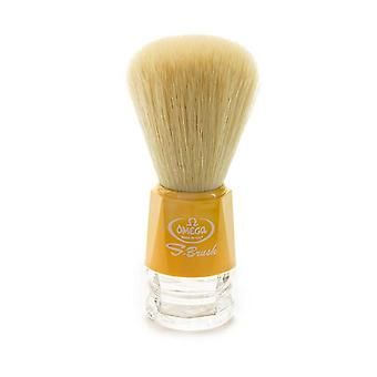 Omega S-Brush Synthetic Shaving Brush Yellow 10018