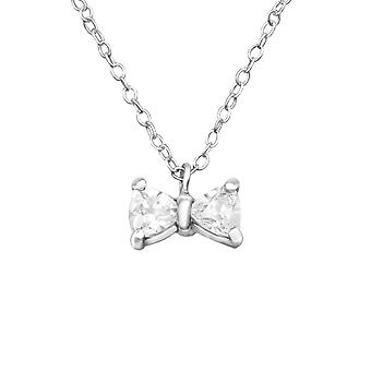 Bow - 925 Sterling hopea Jewelled kaulakorut - W23795x