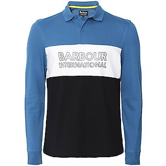 Barbour International Long Sleeve Logo Panel Polo Shirt