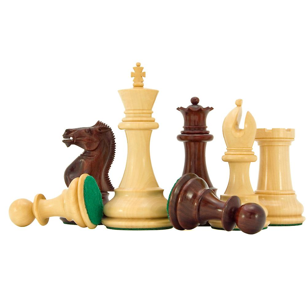 Sandringham Series Red Sandalwood Chess Pieces 4 Inches