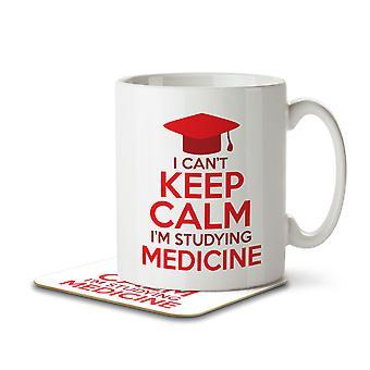 I Can't Keep Calm I'm Studying Medicine - Mug and Coaster