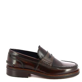 Leonardo Shoes Men's handgemaakte loafers schoenen in bruin krokodillenprintleer