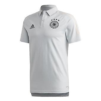 2020-2021 Germany Adidas Polo Shirt (Clear Grey)