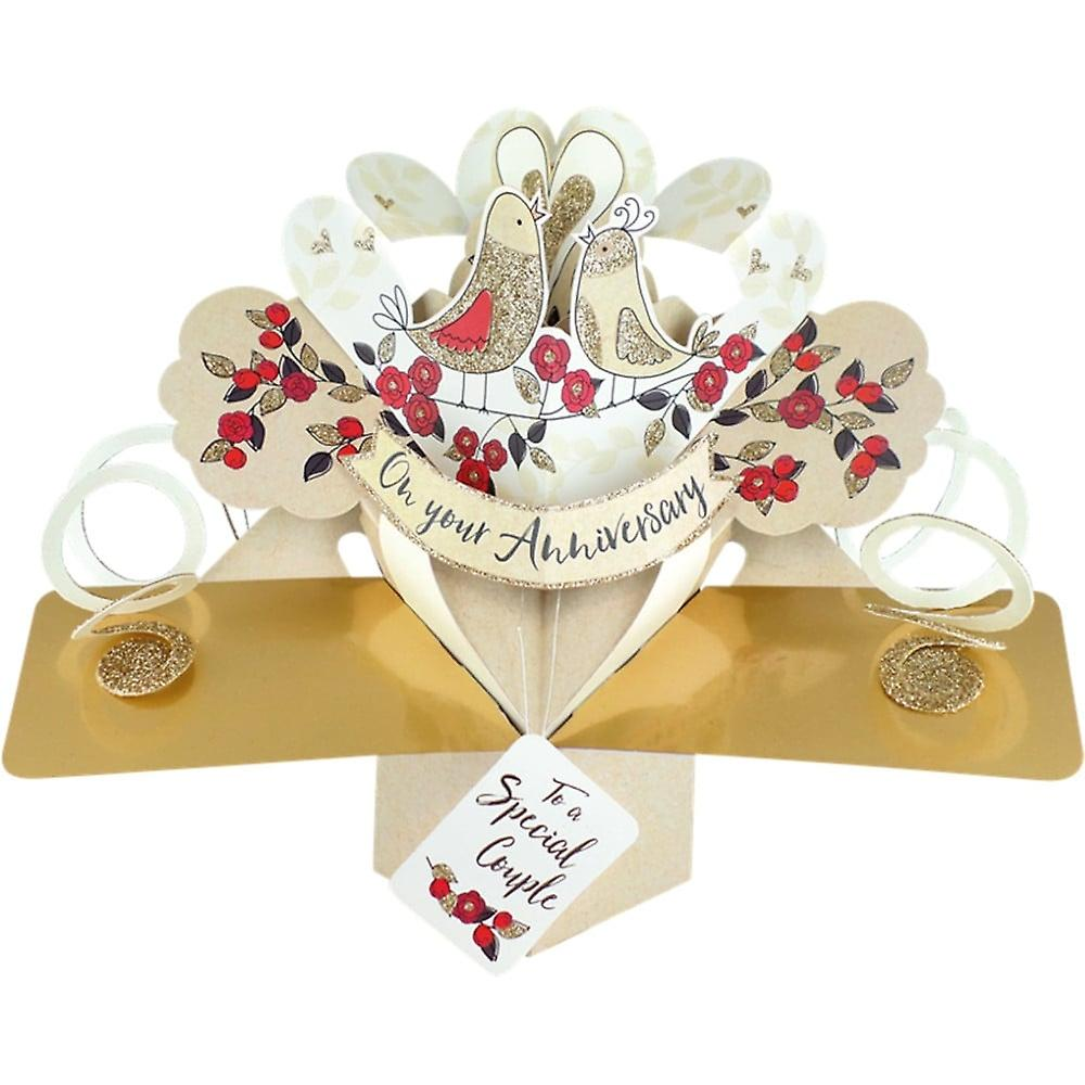 Second Nature Pop Up Birds & Stars 3d On Your Anniversary Special Couple Card Pop165