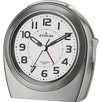 ATRIUM Alarm Clock Analog Quartz anthracite A451-4 without ticking night light