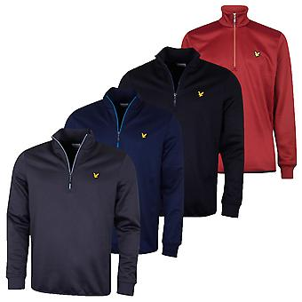 Lyle & Scott Mens Wick 1/4 Zip Midlayer Wicking Sweater