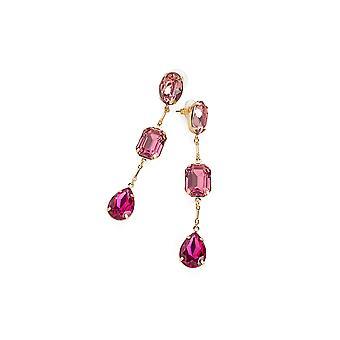 Pretty in Pink Gem Drop Earrings