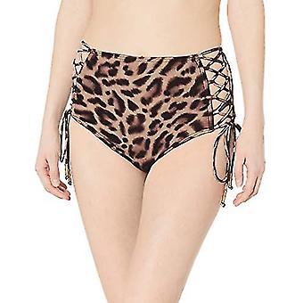 Carmen Marc Valvo Women's High Waist Bikini Bottom Swimsuit with Side tie Det...