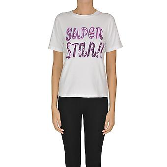 Sweet Matilda Ezgl314036 Women's White Cotton T-shirt
