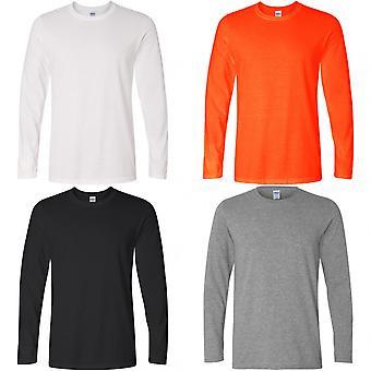 Camiseta de manga comprida Gildan Mens estilo suave
