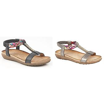 Boulevard Womens/Ladies Elasticated Halter Back Sandals