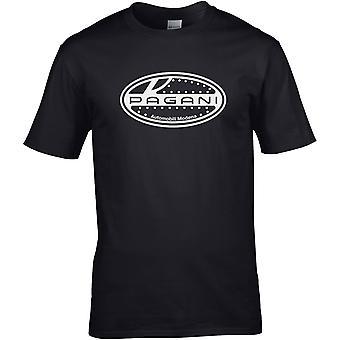 Pagani B&W - Car Motor - DTG Printed T-Shirt