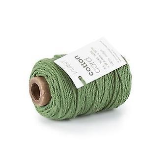 Vivant Cord Cotton fine dark green - 50m x 2mm