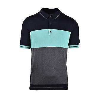 Pal Zileri LAB Pal Zileri Lab Knitted Polo Shirt Blue Navy