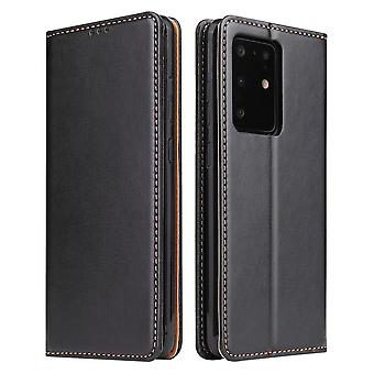 Til Samsung Galaxy S20 Ultra Case Læder Flip Wallet Folio Cover Black