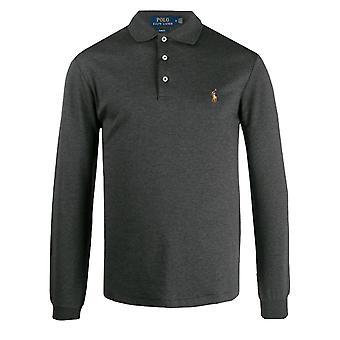 Ralph lauren men's grey heather polo shirt