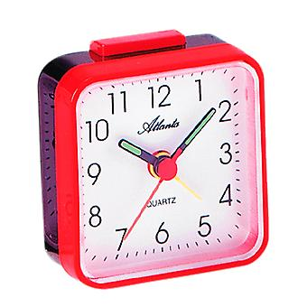 Atlanta 059/1 Alarm clock quartz analog red square square single square purpose