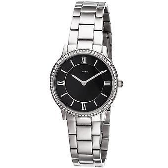 JOBO reloj de pulsera de mujer cuarzo analógico acero inoxidable con SWAROVSKI® ELEMENTS reloj de mujer