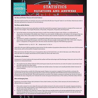 Statistics Equations And Answers Speedy Study Guide by Publishing LLC & Speedy