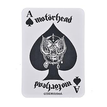 Motorhead vit spelkort vävda plåster