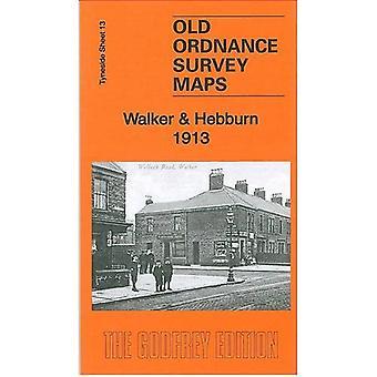 Walker & Hebburn 1914: Tyneside Sheet 13b (Old Ordnance Survey Maps of Tyneside)