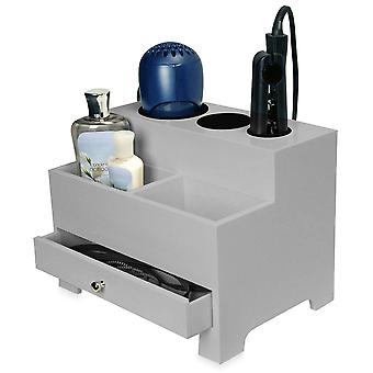 OnDisplay Makayla Deluxe Hair Tool and Accessory Organization Station (Gray)