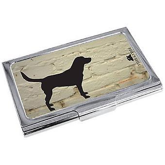 Tyler ja Tyler valkoinen tiili Labrador käyntikortti tapauksessa - kerma/musta/hopea