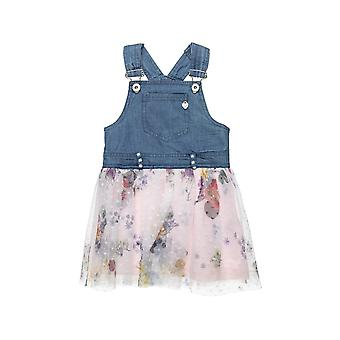 Alouette Girls' Denim Dress With Tulle