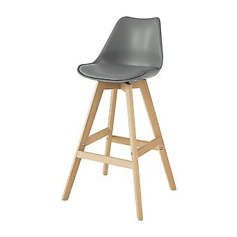 SoBuy FST69-HG,Kitchen Breakfast Barstool, Bar Stool with PU Leather Padded Seat & Beech Wood Legs