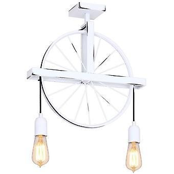 Hydra Pendentif Lampe Couleur métal blanc, L43xP10xA55 cm