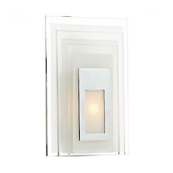 Binary White And Glass Wall Light 1 Bulb