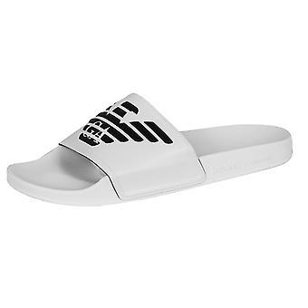 Emporio armani men's white sliders