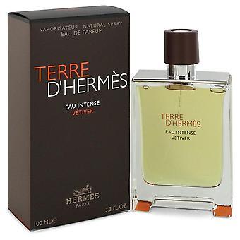 Terre D'hermes Eau Intense Vetiver Eau De Parfum Spray By Hermes 3.3 oz Eau De Parfum Spray