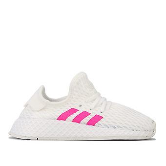 Girl's adidas Originals Crianças Deerupt Runner Trainers em Branco