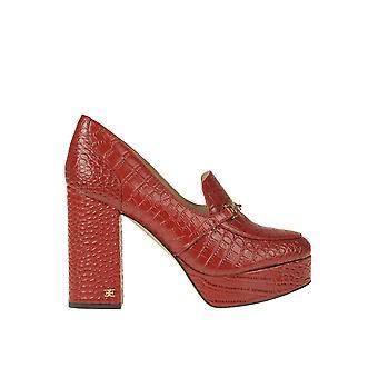 Sam Edelman Ezgl071008 Women's Red Leather Pumps