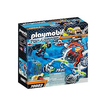 playmobil 70003 top agents spy team sub bot playset 75pcs for ages 6 and above