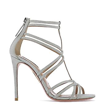 Aquazzura Prchigs0dmdccc Kvinnor's Silver läder sandaler
