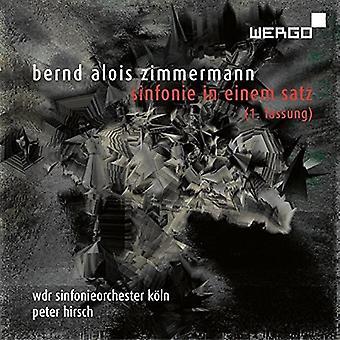 Zimmermann / Wdr Sinfonieorchester Koln / Hirsch - Sinfonie in Einem Satz [CD] USA import