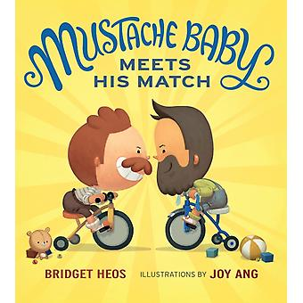 Mustache Baby Meets His Match Board Book by Heos & Bridget