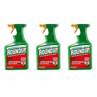 Sparset: 3 x ROUNDUP® AC, 1 litre
